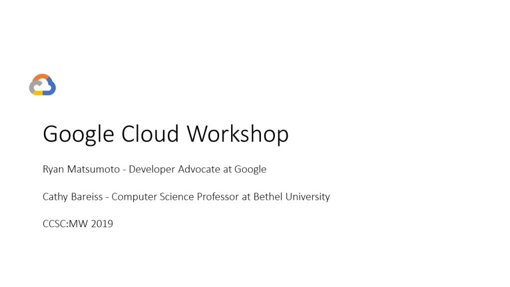 Google Cloud Workshop