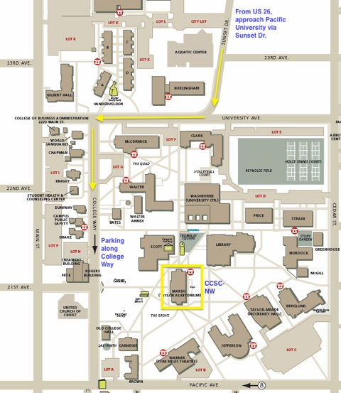 Pacific University Campus Map  My blog